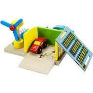 Dřevěné vláčkodráhy - Nabíjecí stanice + 2 auta