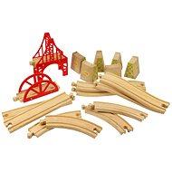 Dřevěné vláčkodráhy - Set most 18 dílů