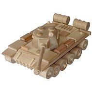 Dřevěné hračky - přírodní dřevěný Tank