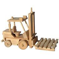 Dřevěné hračky - Vysokozdvižný vozík