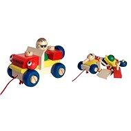 Dřevěné tahací hračky - Montážní auto