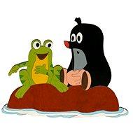 Dřevěná dekorace - Krteček a žába