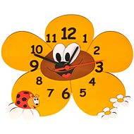 Dětské dřevěné hodiny - Kopretiny