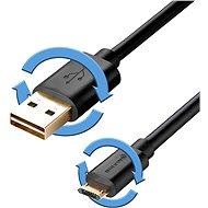 BlitzWolf Reversible Micro USB - oboustranné konektory, 1m černý