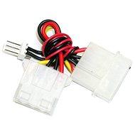 "Redukce napájení z 4 pin 5.25"" konektoru [zdroj] na 3pin konektor [chladič] - Male"