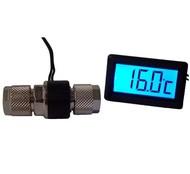 Alphacool teploměr s LCD pro 10/8mm hadici s červeným podsvícením