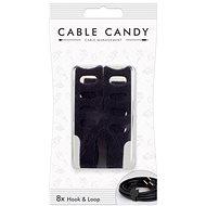 Cable Candy Hook and Loop 8ks černý