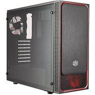 Cooler Master MasterBox E500L červená s průhlednou bočnicí
