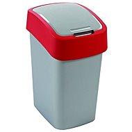 Curver Odpadkový koš 50l stříbrná/červená Flipbin
