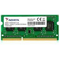 ADATA SO-DIMM 4GB DDR3 1600MHz CL11 Single Tray