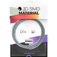 3DSimo Filament MARBLE - šedá 15m