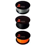 3D World PLA 1.75mm 1kg černá + stříbrná + oranžová