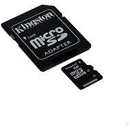 Kingston Micro SDHC 16GB Class 10 + SD adaptér