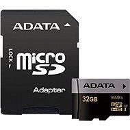 ADATA Premier Pro V30S micro SDHC 32GB UHS-I U3 + SD adaptér