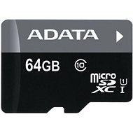 ADATA Premier micro SDXC 64GB UHS-I A1 Class 10 + SD adaptér