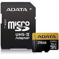 ADATA Premier ONE MicroSDXC 256GB UHS-II U3 Class 10 + SD adaptér