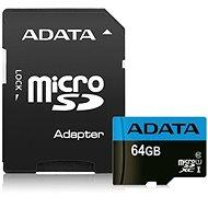 ADATA Premier MicroSDXC 64GB UHS-I Class 10 + SD adaptér