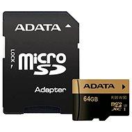 ADATA XPG Micro SDXC 64GB UHS-I U3 Class 10 + SDHC adaptér