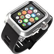 Lunatik EPIK pro Apple Watch 42mm (stříbrné aluminium / černý silikon)