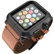 Lunatik EPIK pro Apple Watch 42mm (černé aluminium / hnědá kůže)