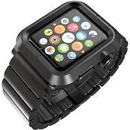 Lunatik EPIK Metal Link pro Apple Watch 1 Series 42mm (černé aluminium / černý kov)