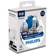 PHILIPS  H4 WhiteVision 60/55W, patice P43t-38, 2 kusy + zdarma 2x W5W  - homologováno!