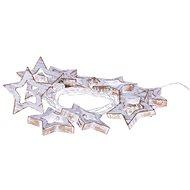 EMOS LED girlanda - hvězdy dřevěné, 3xAA, teplá bílá, časovač