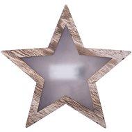 EMOS LED dekorace - hvězda 3D dřevěná, 2xAA, teplá bílá