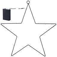 EMOS LED dekorace - hvězda kovová, 3xAA, teplá bílá, časovač