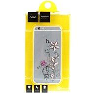 Epico Hoco Flowers pro iPhone 6 a iPhone 6S transparentní bílý/růžový