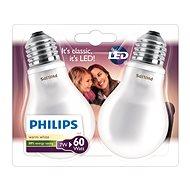 Philips LEDClassic 7-60W, E27, 2700K, Mléčná, set 2ks
