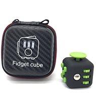 Fidget Cube - antistresová hračka černo zelená