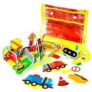 Sada pěnových hraček do vany - Stavební stroje