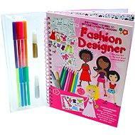 Kreslicí kniha se samolepkami - Módní návrhářka