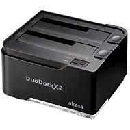 AKASA DuoDock X2 černá