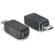 DeLock - micro USB B samec na USB mini 5pin samice