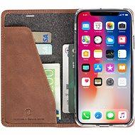 Krusell SUNNE 4 CARD Foliocase pro Apple iPhone X, hnědá