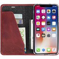 Krusell SUNNE 4 CARD Foliocase pro Apple iPhone X, červená