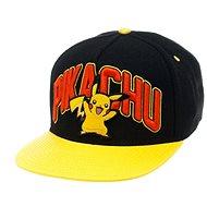 Pokémon Pikachu Black Snapback With Yellow Bill