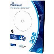 MediaRange CD/DVD/Blu-ray etikety 15mm - 118mm bílé, vysoký lesk
