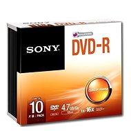 Sony DVD-R 10ks v SLIM krabičce