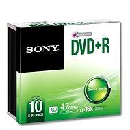Sony DVD+R 10ks v SLIM krabičce
