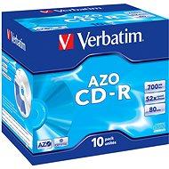 Verbatim CD-R DataLifePLUS Crystal AZO 52x, 10ks v krabičce