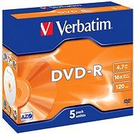 Verbatim DVD-R 16x, 5ks v krabičce