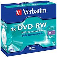 Verbatim DVD-RW 4x, 5ks v krabičce