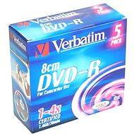Verbatim DVD-R 4x, MINI 8cm 5ks v SLIM krabičce
