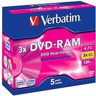 Verbatim DVD-RAM 3x, 5ks v krabičce