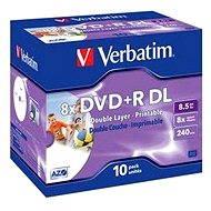 Verbatim DVD+R 8x, Dual Layer Printable 10ks v krabičce