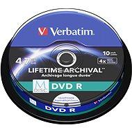 VERBATIM M-DISC DVD R 4X 4,7GB Inkjet Printable 10pck/BAL