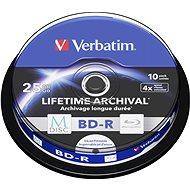 VERBATIM M-DISC BD-R SL 25GB 4x INKJET PRINTABLE spindle 10pck/BAL